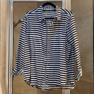 Striped Linen Top Zara XL
